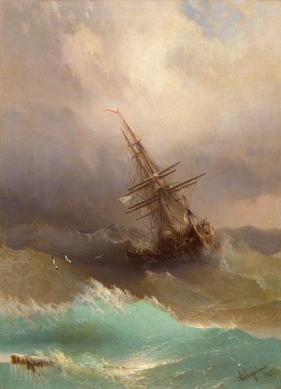 Ivan Aivazovsky - Ship in the Stormy Sea